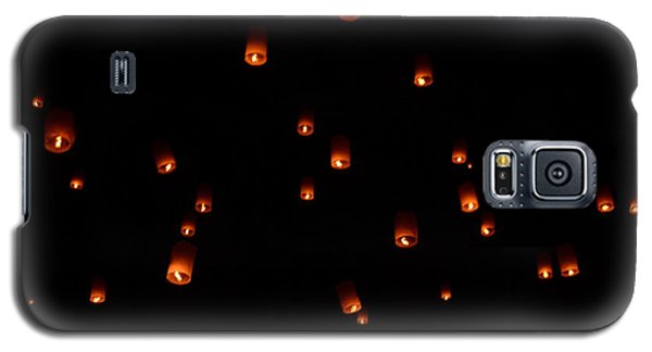 Rise Festival Lanterns 2014 Horizontal Sky Only Number One Galaxy S5 Case by Heather Kirk