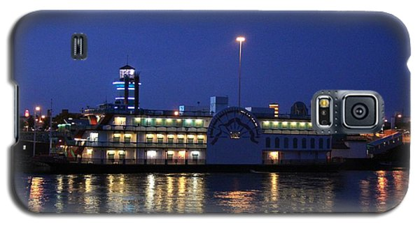 Galaxy S5 Case featuring the photograph River Boat Casino by Yumi Johnson