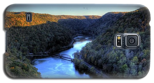 Galaxy S5 Case featuring the photograph River Cut Through The Valley by Jonny D