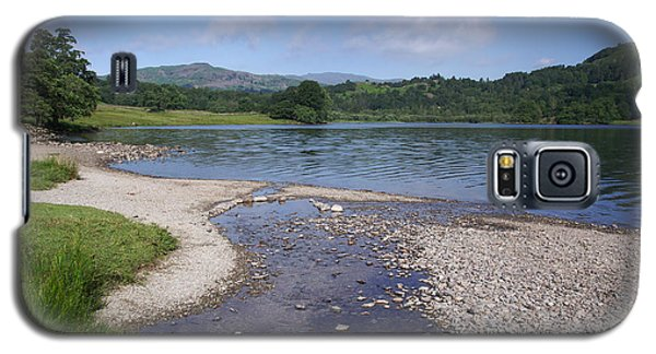 River Meets The Lake Rydal Water Galaxy S5 Case by Graham Hawcroft pixsellpix
