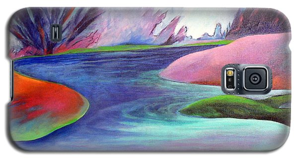 Galaxy S5 Case featuring the painting Blue Bayou by Elizabeth Fontaine-Barr