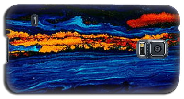 River Path Abstract Art Horizontal Fluid Painting By Kredart Galaxy S5 Case