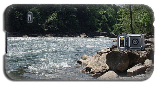 Galaxy S5 Case featuring the photograph River Rapids by Deborah DeLaBarre
