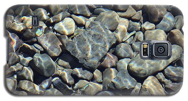 Galaxy S5 Case featuring the photograph River Rocks One by Chris Thomas
