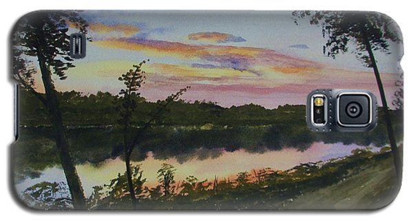 Galaxy S5 Case featuring the painting River Sunset by Martin Howard