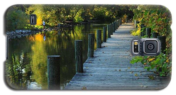 Galaxy S5 Case featuring the photograph River Walk In Traverse City Michigan by Terri Gostola