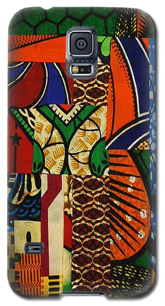 Galaxy S5 Case featuring the tapestry - textile Riverbank by Apanaki Temitayo M