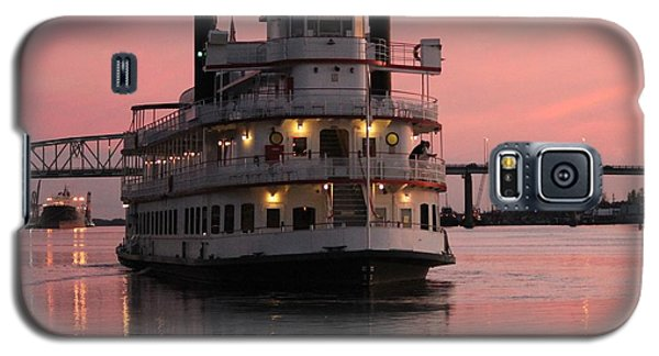 Galaxy S5 Case featuring the photograph Riverboat At Sunset by Cynthia Guinn