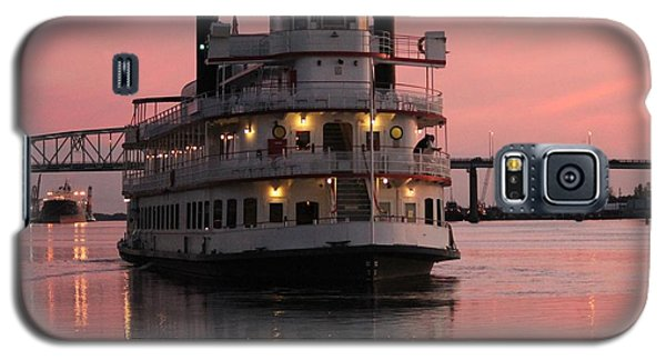 Riverboat At Sunset Galaxy S5 Case by Cynthia Guinn