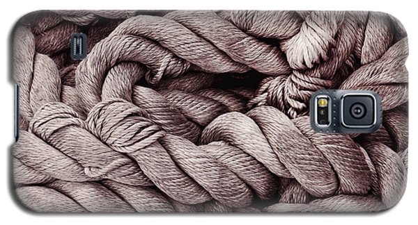 Galaxy S5 Case featuring the photograph Riverboat Mooring Tether by Ray Devlin