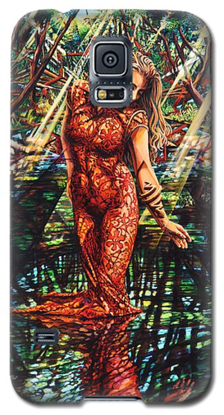 Galaxy S5 Case featuring the painting River's Edge by Greg Skrtic