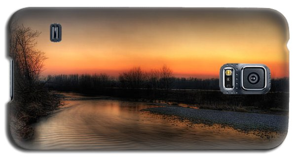 Riverscape At Sunset Galaxy S5 Case