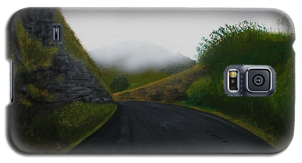 Galaxy S5 Case featuring the painting Road Near Gresford Nsw by Tim Mullaney