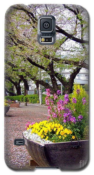 Galaxy S5 Case featuring the photograph Road Of Flowers by Andrea Anderegg