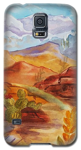 Galaxy S5 Case featuring the painting Road To Nowhere by Ellen Levinson