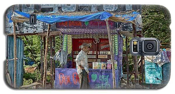 Galaxy S5 Case featuring the digital art Roadside Tobacco Parlor by John Hoey