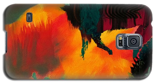 Galaxy S5 Case featuring the painting Roaming In The Desert by Keith Thue