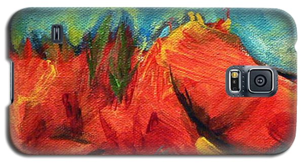Galaxy S5 Case featuring the painting Roasted Rock Coast by Elizabeth Fontaine-Barr