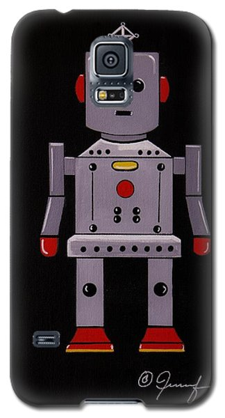Galaxy S5 Case featuring the painting Robby The Robot by Jennifer Lake