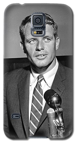 Galaxy S5 Case featuring the photograph Robert Kennedy 1961 by Martin Konopacki Restoration