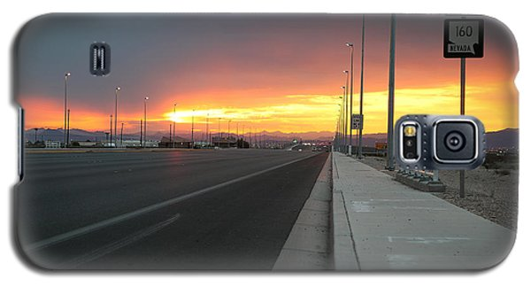Robert Melvin - Fine Art Photography - Highway 160 At Dawn Galaxy S5 Case