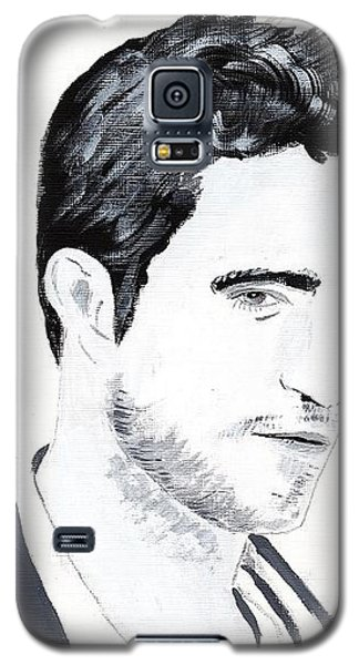 Galaxy S5 Case featuring the painting Robert Pattinson 117a by Audrey Pollitt