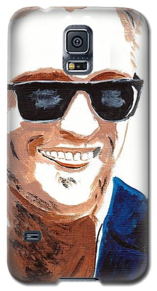 Galaxy S5 Case featuring the painting Robert Pattinson 118a by Audrey Pollitt