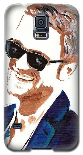 Galaxy S5 Case featuring the painting Robert Pattinson 119a by Audrey Pollitt
