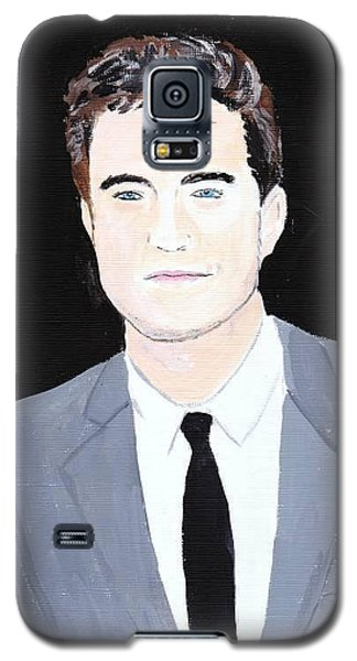 Galaxy S5 Case featuring the painting Robert Pattinson 120a by Audrey Pollitt