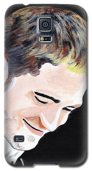 Galaxy S5 Case featuring the painting Robert Pattinson 121 by Audrey Pollitt