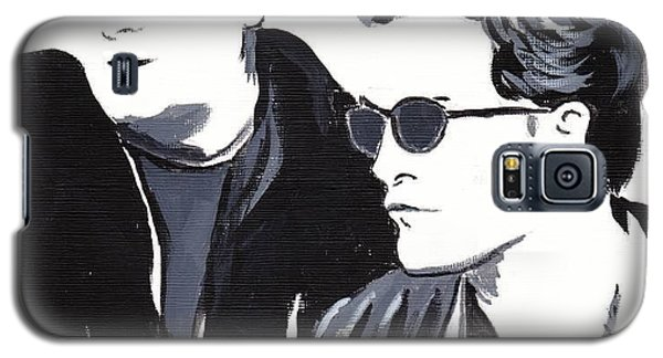 Galaxy S5 Case featuring the painting Robert Pattinson 122 by Audrey Pollitt
