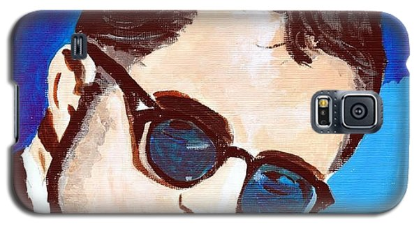 Galaxy S5 Case featuring the painting Robert Pattinson 123a by Audrey Pollitt