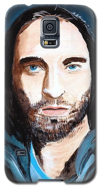 Galaxy S5 Case featuring the painting Robert Pattinson 128a by Audrey Pollitt