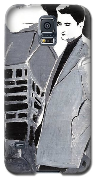 Galaxy S5 Case featuring the painting Robert Pattinson 129 by Audrey Pollitt