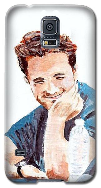 Galaxy S5 Case featuring the painting Robert Pattinson 130 by Audrey Pollitt