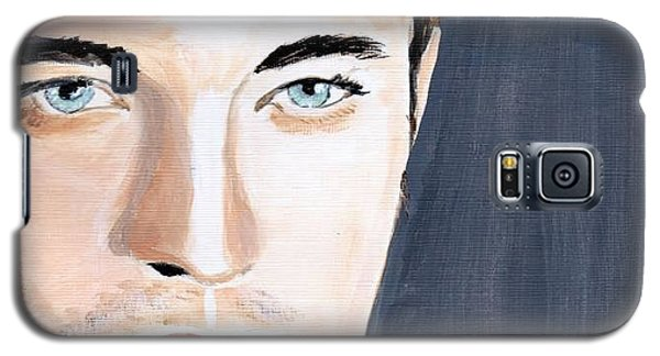 Galaxy S5 Case featuring the painting Robert Pattinson 131a by Audrey Pollitt