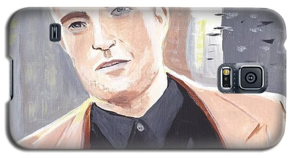 Galaxy S5 Case featuring the painting Robert Pattinson 133a by Audrey Pollitt