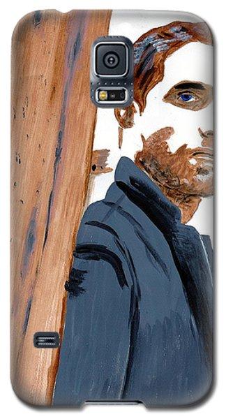 Galaxy S5 Case featuring the painting Robert Pattinson 135 by Audrey Pollitt