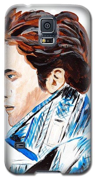Galaxy S5 Case featuring the painting Robert Pattinson 136 by Audrey Pollitt