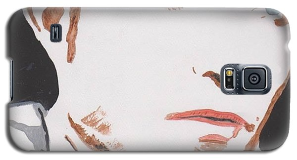 Galaxy S5 Case featuring the painting Robert Pattinson 137 A by Audrey Pollitt