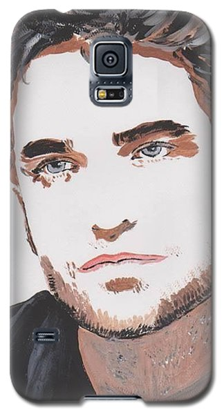 Galaxy S5 Case featuring the painting Robert Pattinson 138 A by Audrey Pollitt
