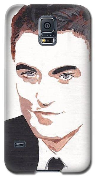Galaxy S5 Case featuring the painting Robert Pattinson 141 by Audrey Pollitt