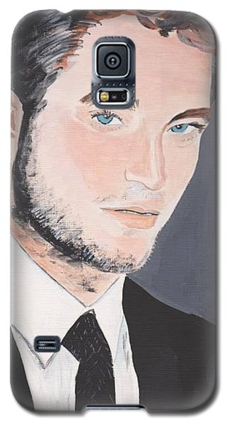 Galaxy S5 Case featuring the painting Robert Pattinson 141a by Audrey Pollitt