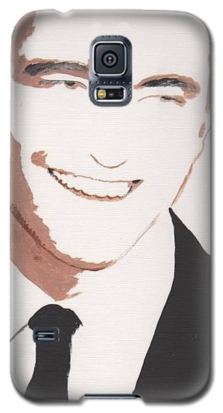 Galaxy S5 Case featuring the painting Robert Pattinson 142 A by Audrey Pollitt