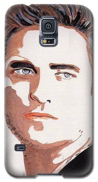 Galaxy S5 Case featuring the painting Robert Pattinson 144 by Audrey Pollitt
