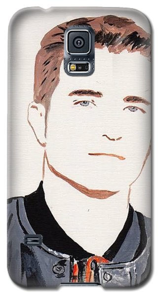 Galaxy S5 Case featuring the painting Robert  Pattinson 145 by Audrey Pollitt