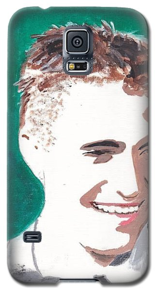Galaxy S5 Case featuring the painting Robert Pattinson 146 A by Audrey Pollitt