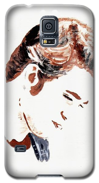 Galaxy S5 Case featuring the painting Robert Pattinson 146 by Audrey Pollitt