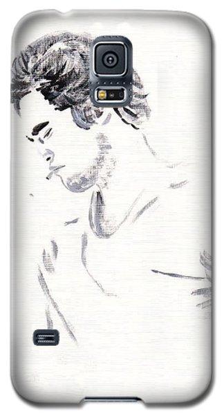 Galaxy S5 Case featuring the painting Robert Pattinson 147 by Audrey Pollitt