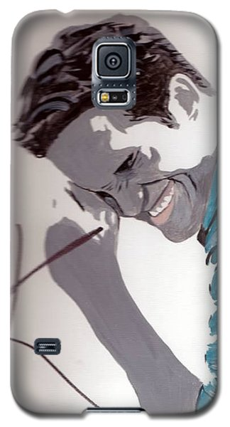Galaxy S5 Case featuring the painting Robert Pattinson 48a by Audrey Pollitt